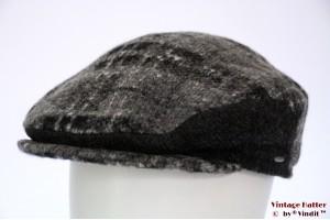 Flatcap Bugatti grey wool mix with earwarmer 58-59